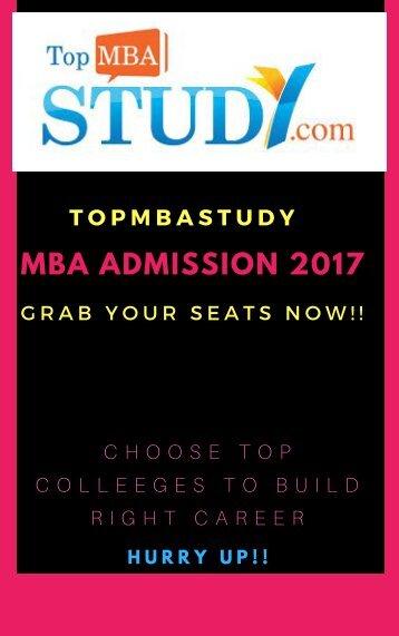 MBA ADMISSION 2017