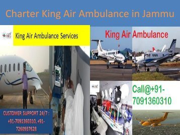 Charter King Air Ambulance in Jammu
