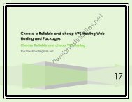 Choose a Reliable and cheap VPS Hosting Web Hosting and Packages