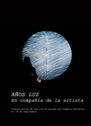 En compañía de la artista - Años Luz