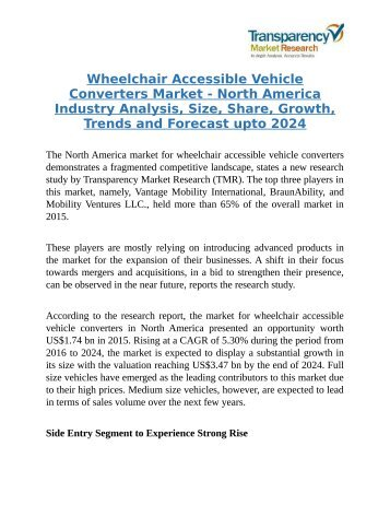 Wheelchair Accessible Vehicle Converters Market