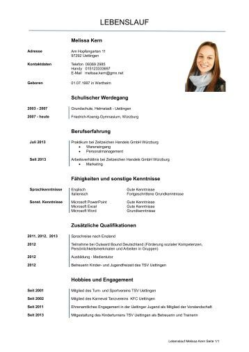 lebenslauf templates