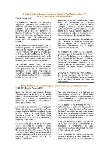 Resumen Nº 5: MAYO 2011/Semana 1 ACCESO - Fepsu.es