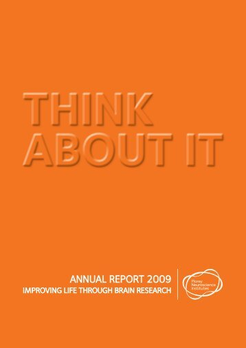 Annual Report 2009 - Florey Neuroscience Institutes