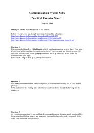Communication System SS06 Practical Exercise Sheet 1