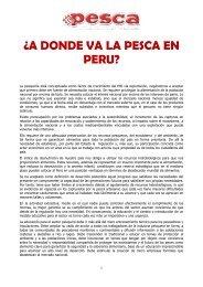 A DONDE VA LA PESCA EN PERU