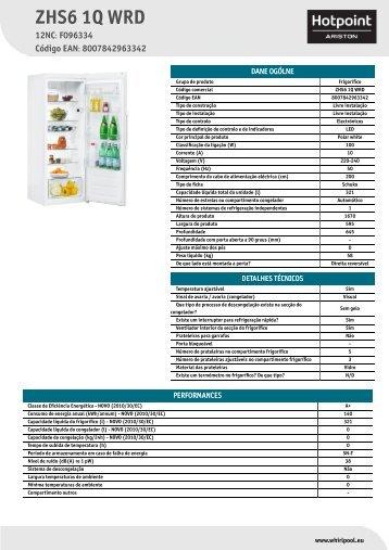 KitchenAid ZHS6 1Q WRD - ZHS6 1Q WRD PT (F096334) Informations produit