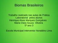 Biomas  Brasileiros Henrique e Maria Clara 5º ano sala 3