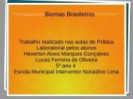 Biomas Brasileiros Heverton e Lucas 5º ano sala 4