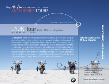 UYUNItour Chile - Bolivia - Argentina - South America Motorbike tours