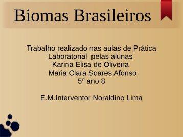 Biomas Brasileiros Karina e Maria Clara  5º ano sala 8