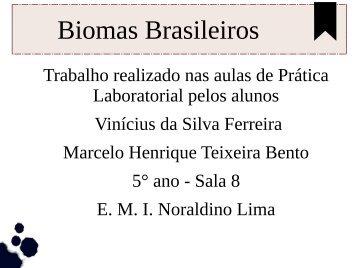 Biomas Brasileiros Marcelo e Vinicius 5º ano sala 8