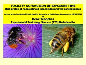 Toxicity as function of exposure time