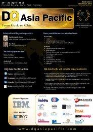 WORKSHOPS – Wednesday, 21 April 2010 - Data Quality Asia ...
