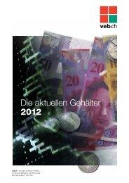 Die aktuellen Gehälter 2012 - V.e.b.