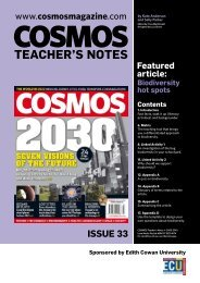 Cosmos Magazine - Issue 33 - Edith Cowan University