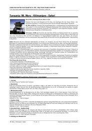 Tansania: Mt. Meru - Kilimanjaro - Safari - Intakt-Reisen