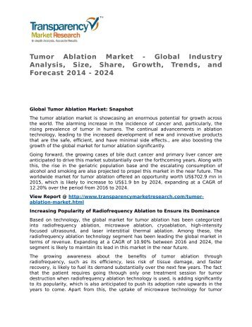 Tumor Ablation Market 2014 Trends, Research, Analysis and Review Forecast 2024