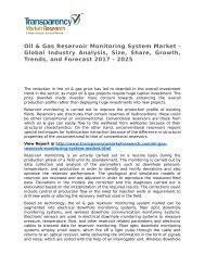 Oil & Gas Reservoir Monitoring System Market 2017 Trends, Research, Analysis and Review Forecast 2025