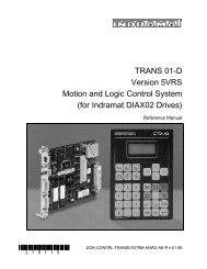 TRANS 01-D Version 5VRS Motion and Logic ... - Bosch Rexroth