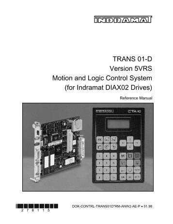 TRANS 01-D Version 5VRS Motion and Logic ... - Bosch Rexroth