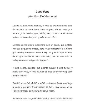 Luna llena (del libro Piel desnuda) - Jorge Mora Forero