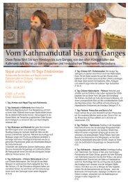 Vom Kathmandutal bis zum Ganges - Niedermayer Reisen