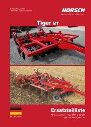 ET-Liste Horsch Tiger 3 / 4 MT starr 2010 - Horsch Maschinen GmbH