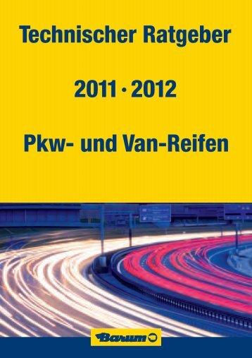 Technischer Ratgeber 2011·2012 Pkw- und Van-Reifen - Barum Tyres