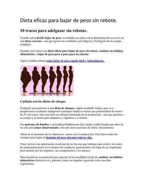 Dieta de la leptina para bajar de peso