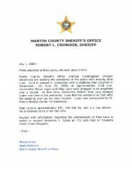 July 2008 Press Releases - Martin County