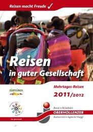 Oberhollenzer - Gruppenreisen 2011
