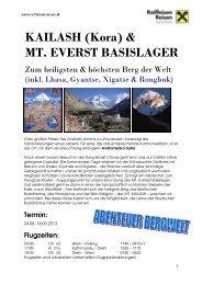 Detailprogramm Berg, Kailash 2013, fir - Raiffeisen Reisen