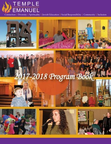 Temple Emanuel Program Book 2017-2018
