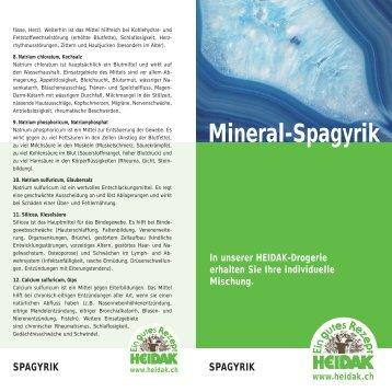 Mineral-Spagyrik