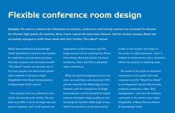 Flexible conference room design