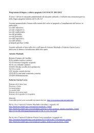 Programma lingua e cultura spagnola LS-LM 6 - Scienze della ...