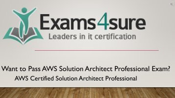 AWS Solution Architect Professional Braindumps