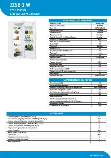 KitchenAid ZIS6 1 W - ZIS6 1 W FR (F105582) Informations produit