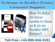 448000465291 Fix Error Unable to clean 5a&50 on Brother Printer