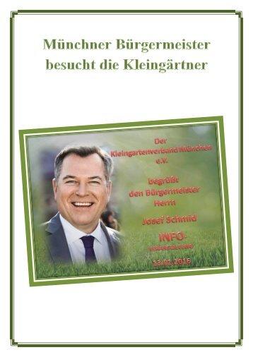 Münchner Bürgermeister besucht die Kleingärtner