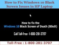 18002813707|How to Fix Windows 10 Black Screen Issues in HP Laptop