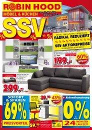SSV: Einzel- und Ausstellungsstücke radikal reduziert! SSV-Aktionspreise! Günstige Möbel & Küchen bei Robin Hood in 78166 Donaueschingen