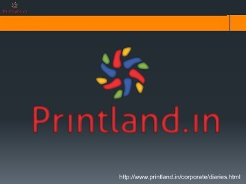 PrintLand.in - Buy Promotional and Corporate Diaries with Logo and Name Printed Online in India