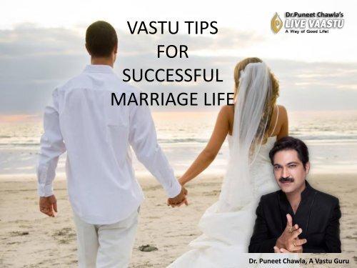 VASTU TIPS FOR SUCCESSFUL MARRIAGE LIFE