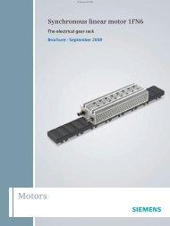 Synchronous linear motor 1FN6 - Siemens Industry, Inc.