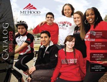 2011-2012 Catalog - Mt. Hood Community College