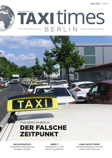 Taxi Times Berlin - Juni 2017