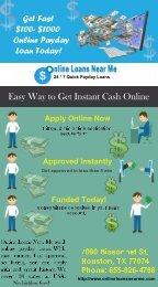 Online Loans Near Me- Payday Loans