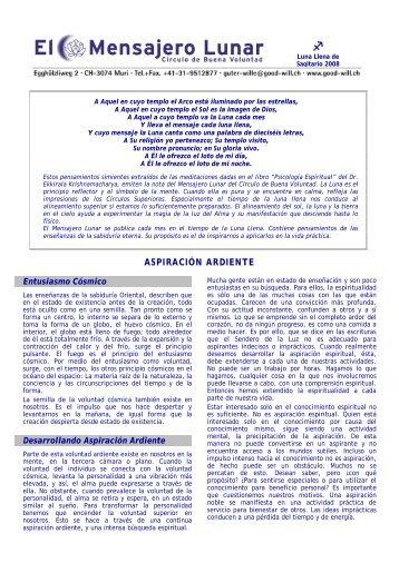 N° V/5: Aspiración Ardiente - Circle of Good Will